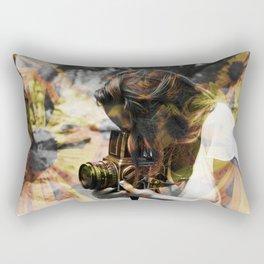 The Floral Photographer Rectangular Pillow