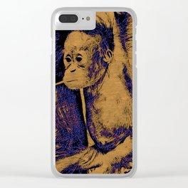 Animal ArtStudio 12516 Orang Baby Clear iPhone Case