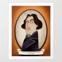 oscar wilde Art Prints featuring Oscar Wilde said... by Mrs Peggotty
