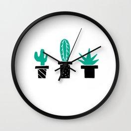 Cactus Friends Wall Clock
