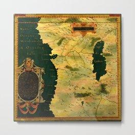 Map Of Angola 1580 Metal Print