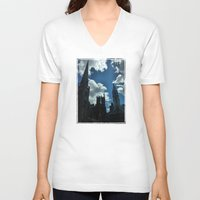 philadelphia V-neck T-shirts featuring Philadelphia by Julie Maxwell