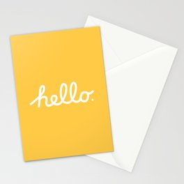 Hello: The Macintosh Office (Yellow) Stationery Cards