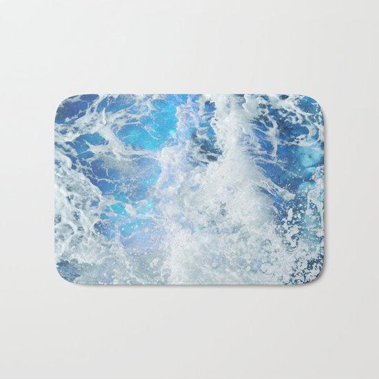 Blue Ocean Glow Bath Mat