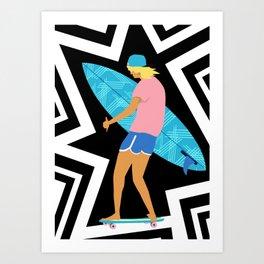 Summer Board meeting Art Print