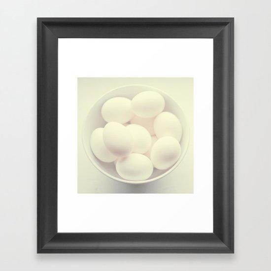 Ghost eggs Framed Art Print