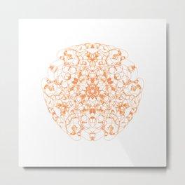 Mandala Trinity orange Carnelian Metal Print