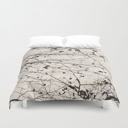 boughs pale Duvet Cover