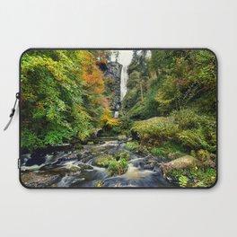 Pistyll Rhaeadr Waterfall , North Wales, United Kingdom, landscape Photography Laptop Sleeve