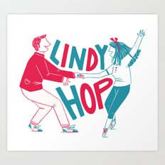 Lindy hop - Swing out Art Print