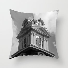 Historic Courthouse Steeple Throw Pillow