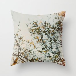 Gold & Warm Throw Pillow