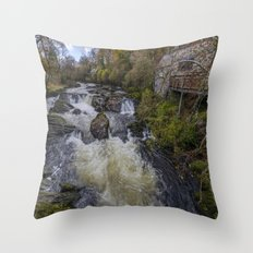 Little House On The River Throw Pillow