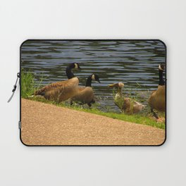 Duck Meeting with Geese Laptop Sleeve