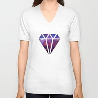 diamond V-neck T-shirts featuring Diamond by eARTh
