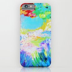 IN DREAMS - Gorgeous Bold Colors, Abstract Acrylic Idyllic Forest Landscape Secret Garden Painting iPhone 6s Slim Case