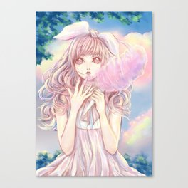 Candy clouds of lullaby Canvas Print
