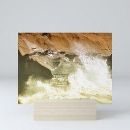 SPLASHING OCEAN WAVES 2 Mini Art Print