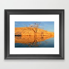 a late afternoon reflection. Framed Art Print