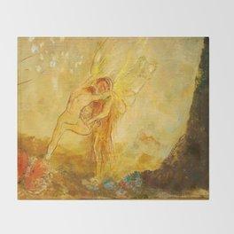 "Odilon Redon ""Jacob Wrestling with the Angel"" Throw Blanket"