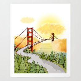 San Francisco Horizon Art Print