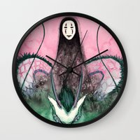 spirited away Wall Clocks featuring Spirited Away by The-MoonSquid