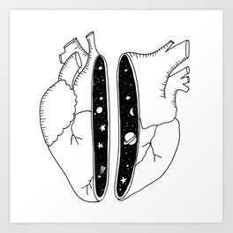 Universe heart Art Print