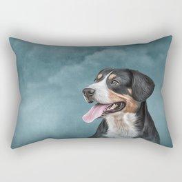 Drawing Appenzell Mountain Dog Rectangular Pillow