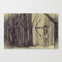 lotr Canvas Prints featuring Legolas LOTR - the noisy silence of woods by Blanca MonQnill Sole