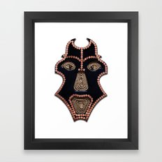 Euro Mask Framed Art Print