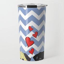 Chevron Pug Travel Mug
