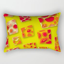 red spotted rectangles Rectangular Pillow
