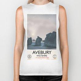 Avebury, Wiltshire Stone circle Train travel poster Biker Tank