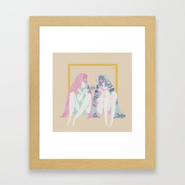 Introverts with thin skin Framed Art Print