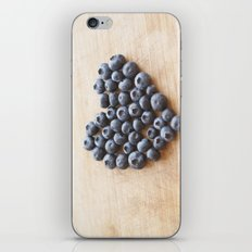 Blueberry Heart iPhone & iPod Skin