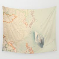map Wall Tapestries featuring map by Ingrid Beddoes