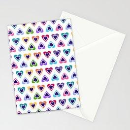 Tiny Rainbow Love Hearts Stationery Cards
