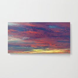 Cotton Candy coloured sky Metal Print