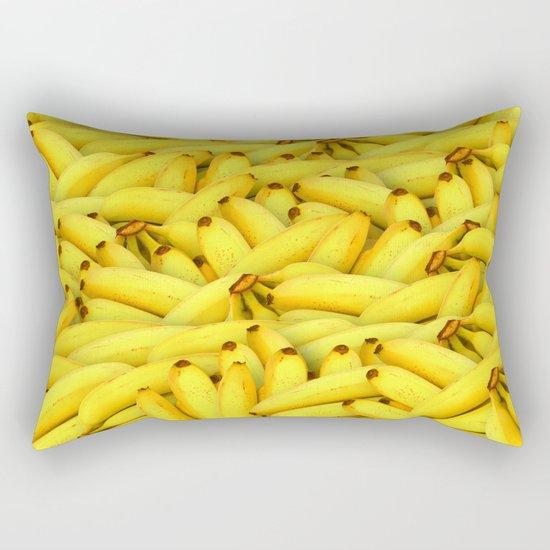 Yellow Bananas pattern Rectangular Pillow
