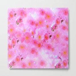 Cherry Blossoms Pink Metal Print