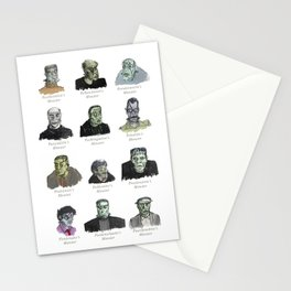 Field Guide to Man-Made Monsters (white) Stationery Cards