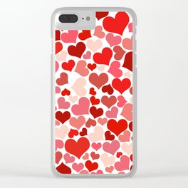 Loveheart Pattern - Romantic Love Patterns - Gift of Love Clear iPhone Case