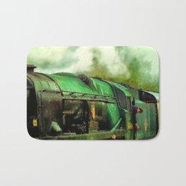 Green Steam Train Bath Mat
