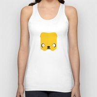 jake Tank Tops featuring Marshmallow Jake by Oblivion Creative
