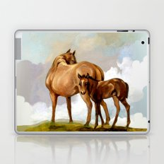 Thoroughbred Mare and Foal Laptop & iPad Skin