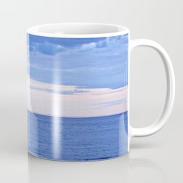 Blue on Blue at the River Mouth Coffee Mug