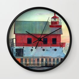Grand Haven Outer lighthouse Focus Wall Clock