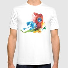colorful butterfly - 2 Mens Fitted Tee White MEDIUM