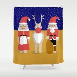 Christmas Family Shower Curtain