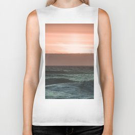 Perfect Ocean Sunset Biker Tank